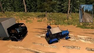 Тайная непроходимая дорога в euro truck simulator 2 байкал шок! + играем на руле!