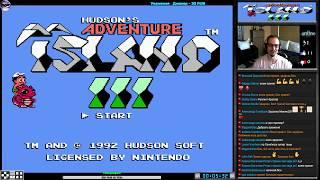 Hudson's Adventure Island III прохождение (U) | Игра (Dendy, Nes, Famicom, 8 bit) Стрим RUS