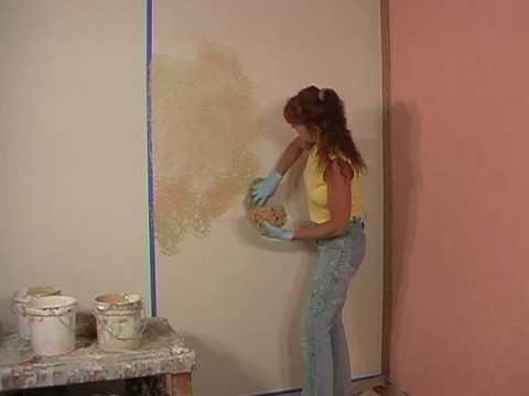 How-to faux paint a blended sponge painting technique ...