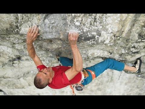 Steve McClure climbs Britain's hardest route: Rainman 9b