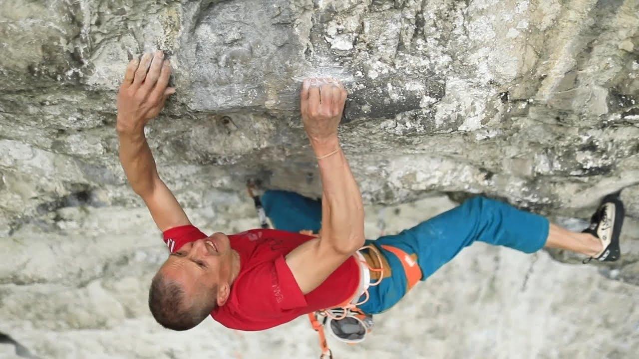 Download Steve McClure climbs Britain's hardest climb: Rainman 9b