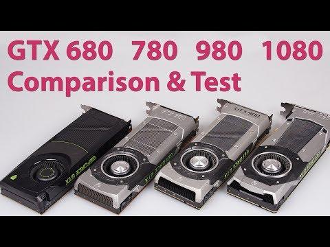 NVIDIA GeForce GTX 680 vs. 780 vs. 980 vs. 1080 Performance Analysis & Graphics Comparison