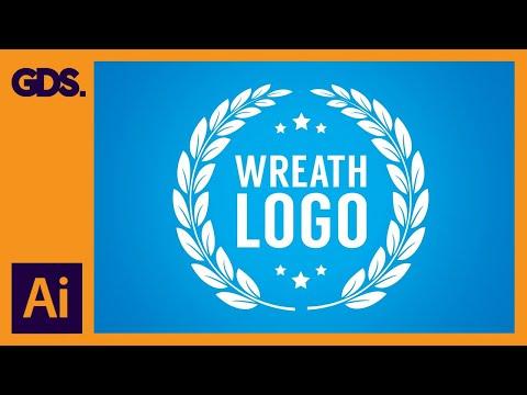 Wreath logo in Adobe Illustrator