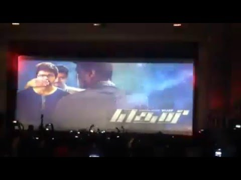 Vijay's THERI display motion poster in theater | thalapathy fans