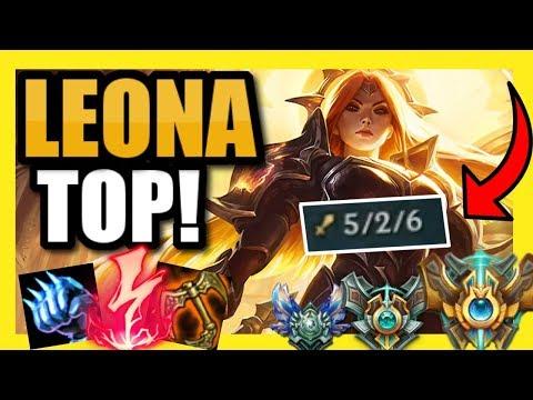 #1 LEONA NA PLAYS LEONA TOP! THIS BUILD IS *DISTURBINGLY* OP! || Leona Top [Commentary]