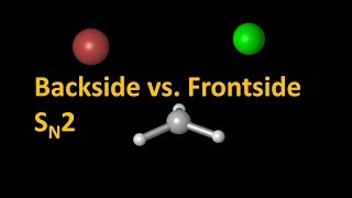 backside vs. frontside SN2 reactions - intrinsic reaction coordinates