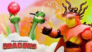 Which Dragon Will Win Hide & Seek? How To Train Your Dragon: Dragon Tales Toy Pretend Play