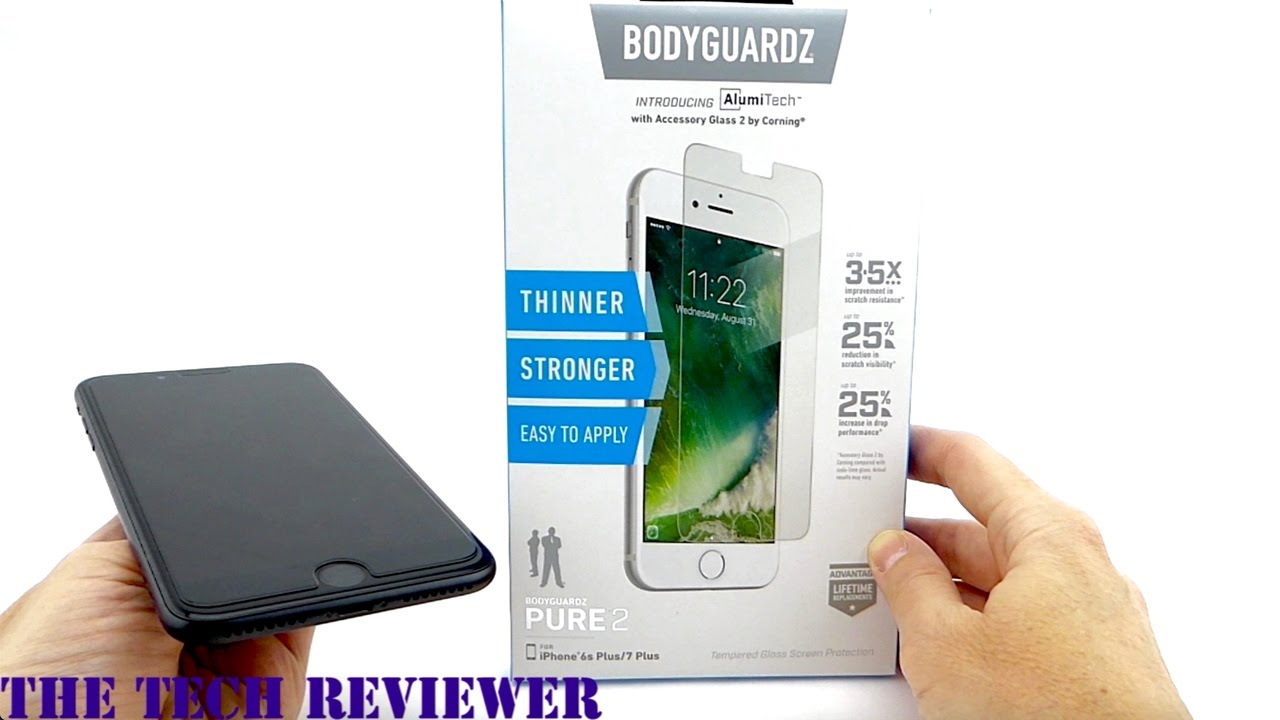 BodyGuardz Pure 2 Screen Protector for iPhone 7 Plus: Pure ...