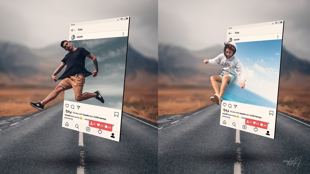 Instagram 12D Pop Out Photo Effects Photoshop Tutorial   YouTube ...