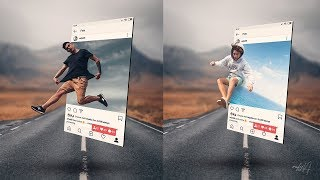 Instagram 3D Pop Out Photo Effects Photoshop Tutorial