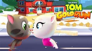 Talking Tom Gold Run Android Gameplay - Talking Tom vs Talking Angela 2018