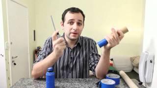 Bazuca cheirosa de desodorante e tubo de papelão - Smelling bazooka