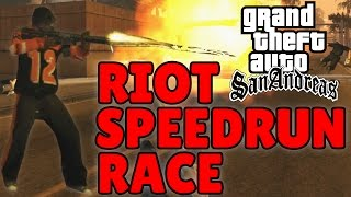 GTA San Andreas Riot Speedrun Race