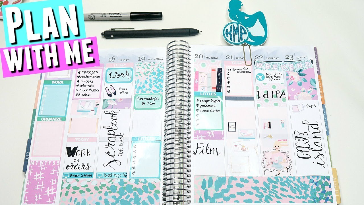 Erin Condren Plan With Me With The Glam Planner Sticker The Glam