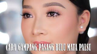 CARA PASANG BULU MATA PALSU   How To Apply False Lashes - Mipmop