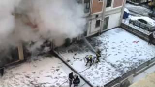 Incendio edificio via Prenestina