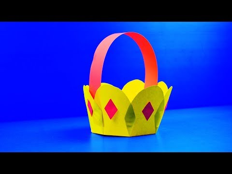 DIY Craft Paper : Flower Bucket with Origami Paper  | HOW TO MAKE PAPER FLOWER BUCKET