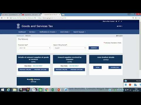 GSTR 3B - Late Fees, Payment of Challan & Offset Liability-- With Example