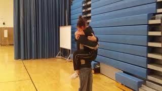 Brother surprised sister at school Home from Army