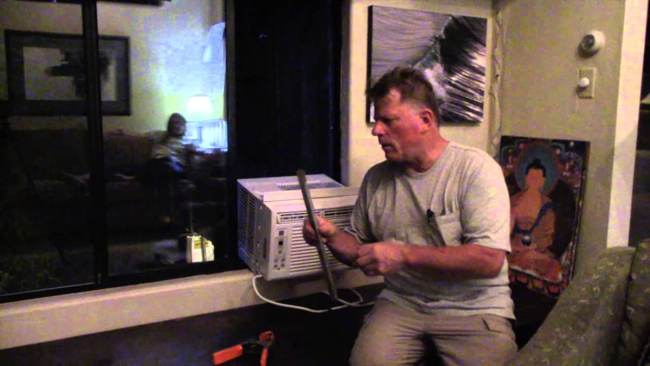 Diy Air Conditioner Install In Horizontal Sliding Window