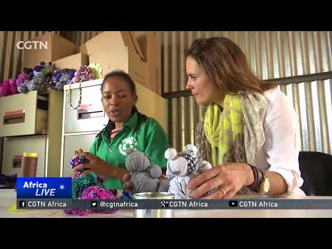 South African women recycle fabric offcuts into unique bags, toys