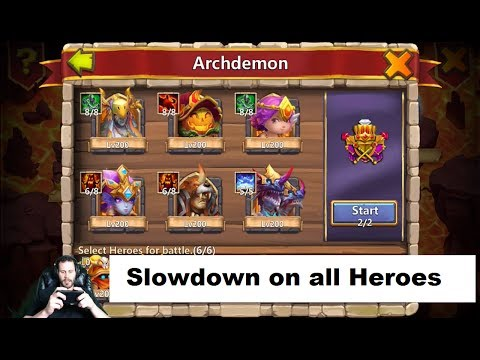 Getting DRUID 8/8 Slowdown ARCHDEMON Time Castle Clash
