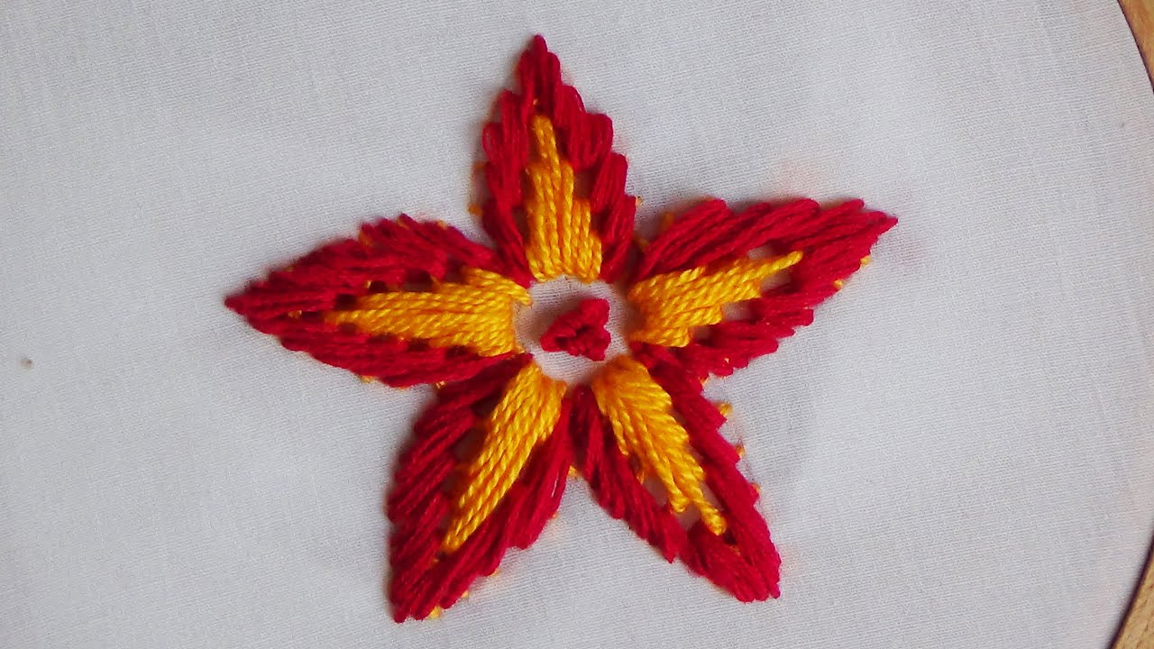 Hand embroidery loose flower stitch doovi