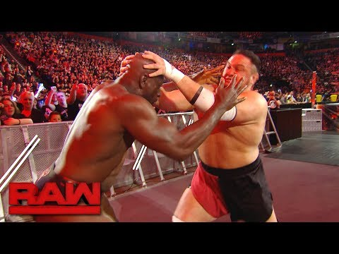 Samoa Joe locks Titus O'Neil in the Coquina Clutch: Raw, Nov. 6, 2017