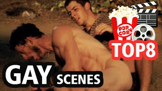 Repeat youtube video TOP 8 GAY KISS SCENES / Movies and TV Series