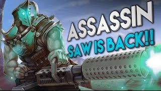 Vainglory Gameplay - Episode 206: ASSASSIN SAW IS BACK!! Saw |CP| Lane Gameplay |1.19|