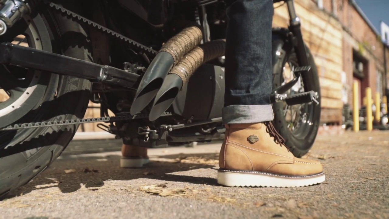 Tan 12 M US Harley-Davidson Mens Beau Motorcycle Boot