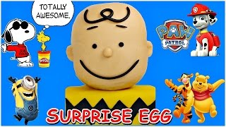 NEW Charlie Brown Giant Play Doh Surprise Toy Egg and AWESOME Peanuts Collector