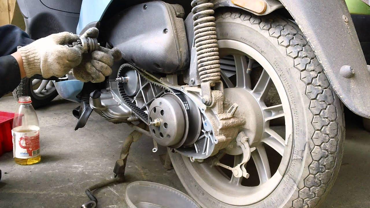 замена масло в редукторе скутер peugeot elyseo