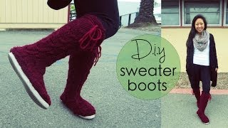 Diy Sweater Boots