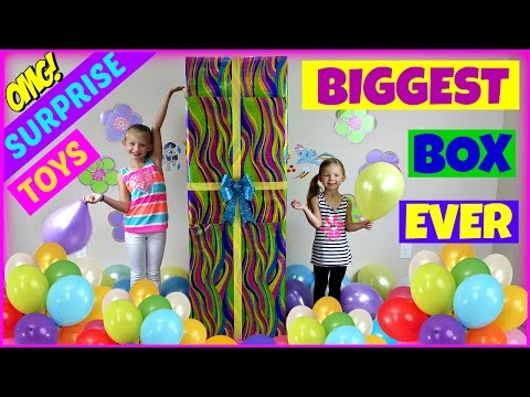 BIGGEST SURPRISE BOX EVER TOYS Surprise Egg Shopkins Frozen My Little Pony  Sofia the First