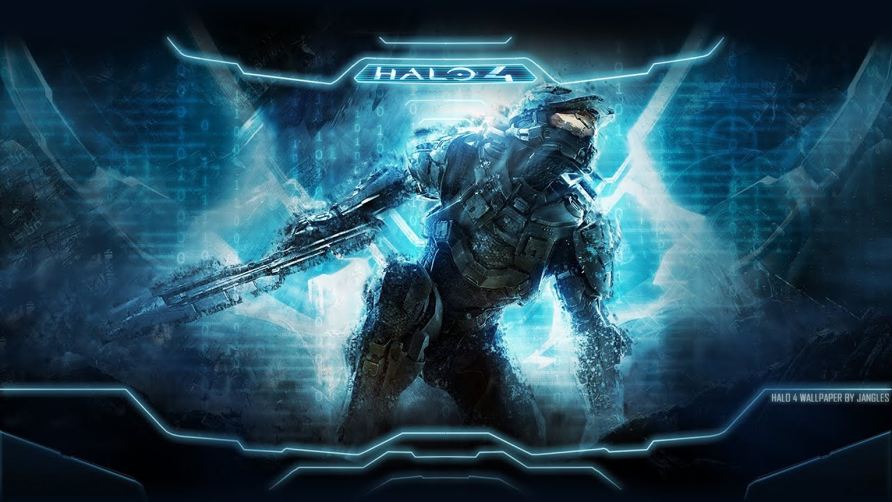 halo 4 chrome theme wallpaper speedart youtube