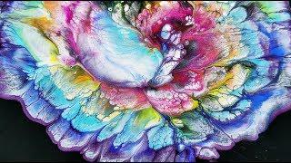 (145) Over the rainbow / Spiral flower dip