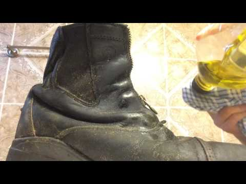 How to oil boots with olive oil!