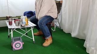 큐머스 접이식 휴대용 캠핑의자 사용법1(pull &am…