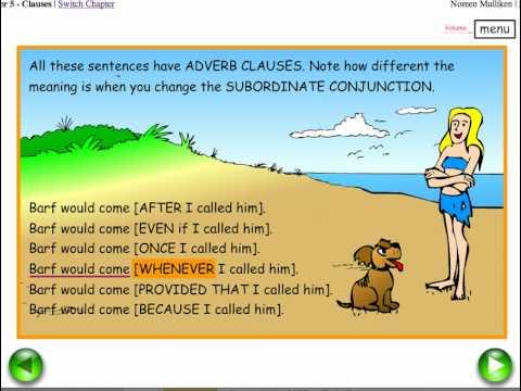 SUBORDINATE CONJUNCTIONS - Easy English Grammar