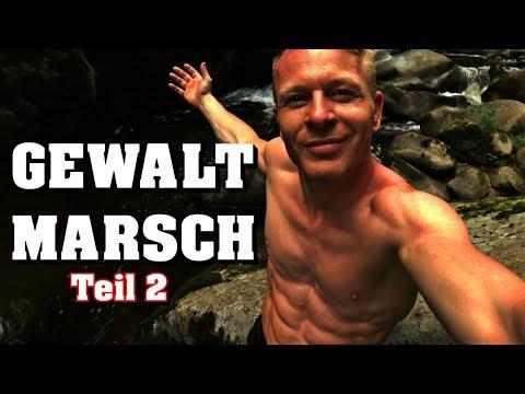 GEWALTMARSCH durch den deutschen Dschungel Teil 2 Übernachtung