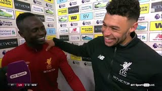 """""""Hendo is the best at staying angry!"""" Mané & Oxlade-Chamberlain after Liverpool"""