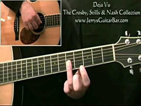 how to play crosby, stills, nash & young deja vu introduction