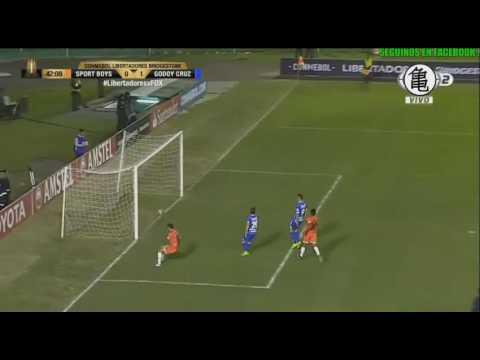 Gol de Angel Gonzalez - Sport Boys Warnes 0 x 1 Godoy Cruz - Copa Libertadores