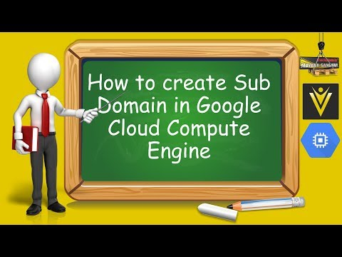 How to create Sub Domain in Google Cloud Compute Engine