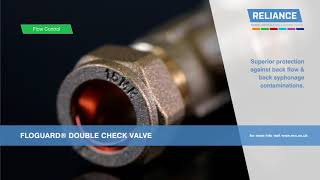 Floguard Double Check Valve - Product Spotlight - Reliance UK