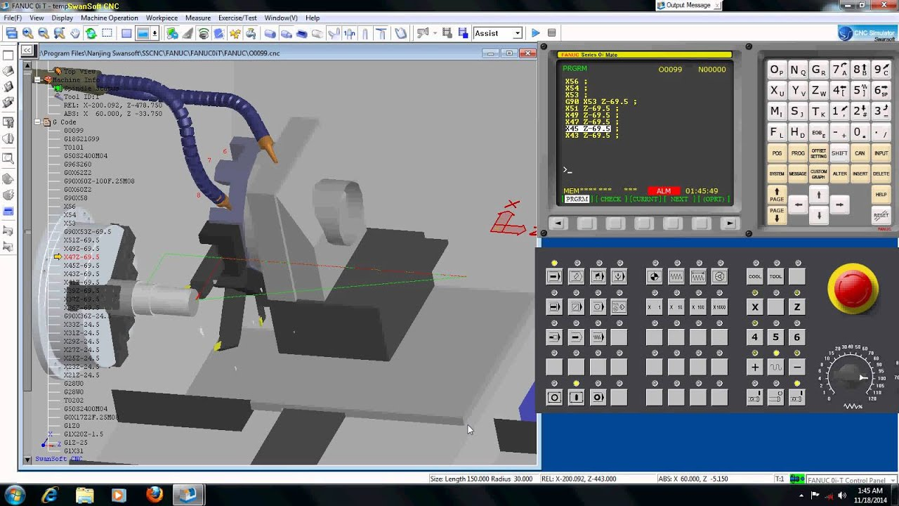 Simple Programming Simulation Fanuc CNC Machine