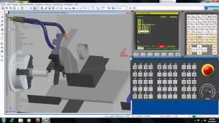 Simple Programming Simulation Fanuc CNC Machine
