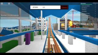 ROBLOX Dip The Dips On Ride Front Seat POV Funland Theme Park
