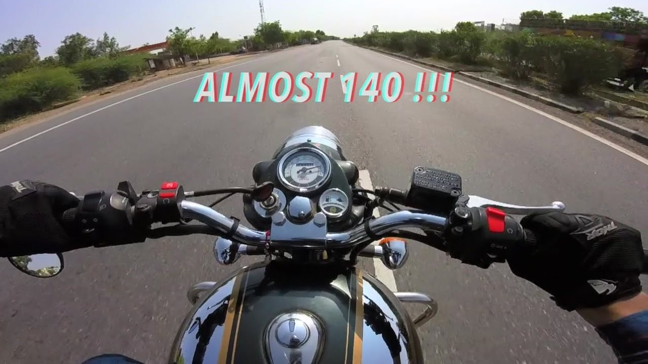 Royal Enfield Classic 500 Top Speed 138 139kmph Gopro Youtube